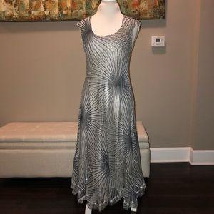 Komorav Crinkle Sleeveless Dress